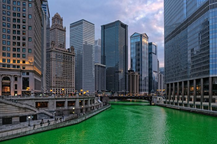 Chicago cityscape at dusk