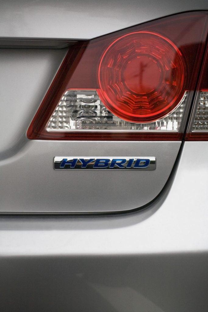 Tail lights hybrid car