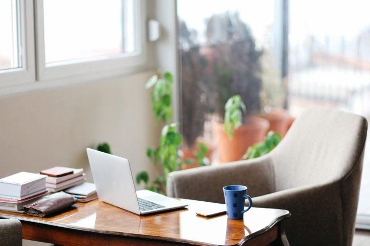 Cozy home workspace