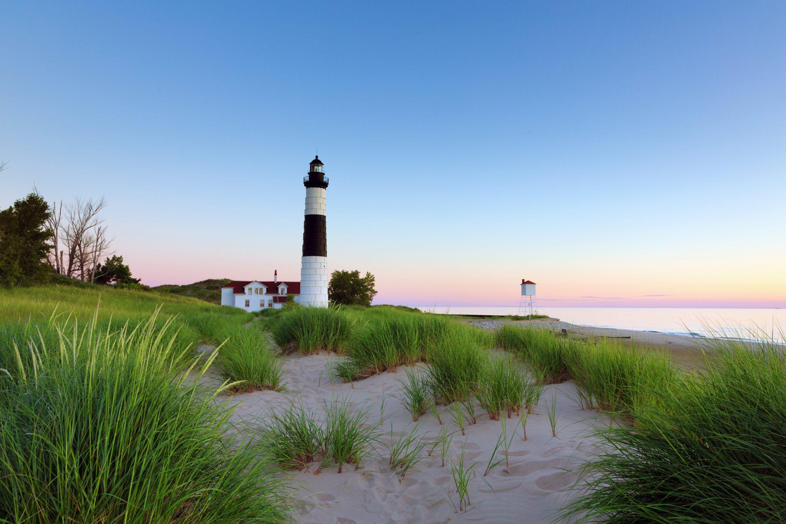 Big Sable Lighthouse in Ludington Michigan