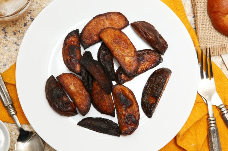 Burnt Potato Wedges