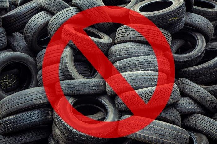 tires garbage hazard