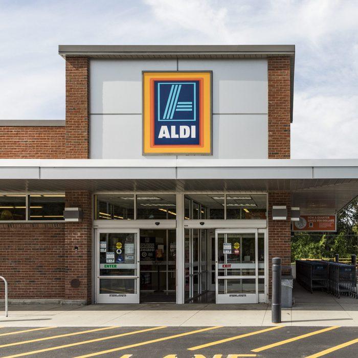 shop of the grocery store Aldi in Brattleboro