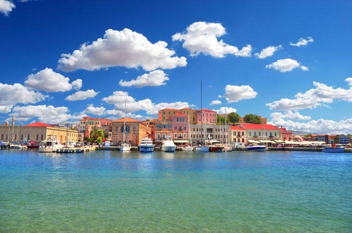 Chania, Old Venetian Harbour, Crete, Greece