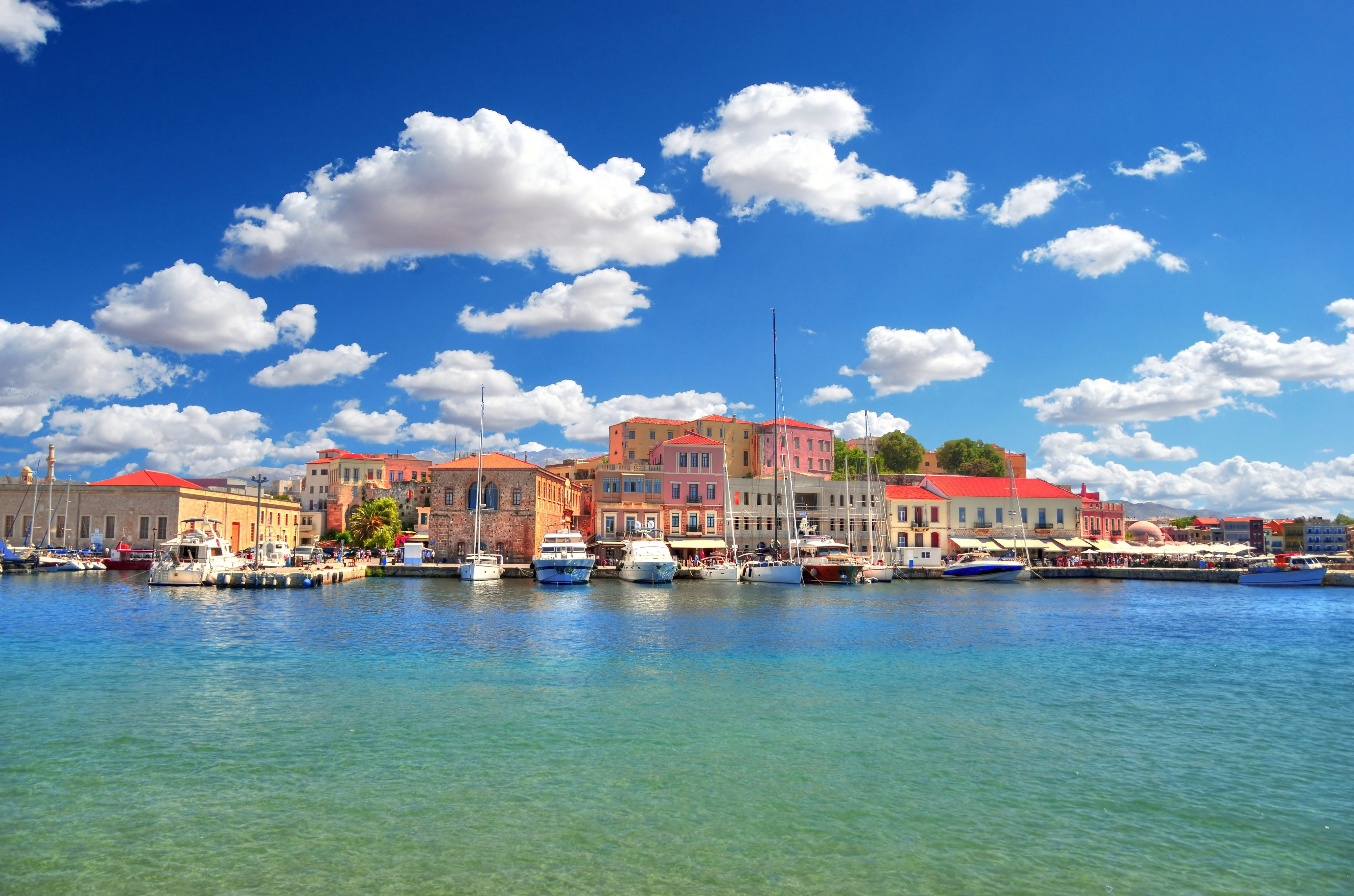 Chania, Old Venetian Harbour, Crete, Greece