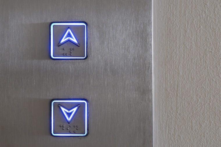 Neon elevator controls