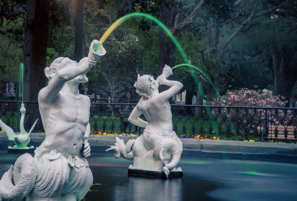 Fountain Savannah on St Patrick Day