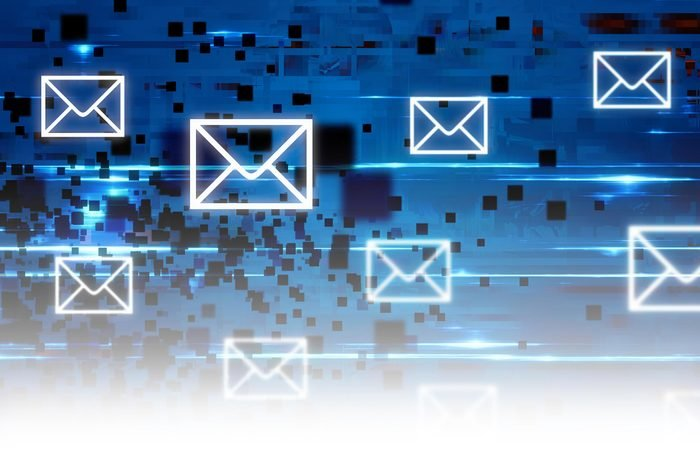 abstract cyber email concept
