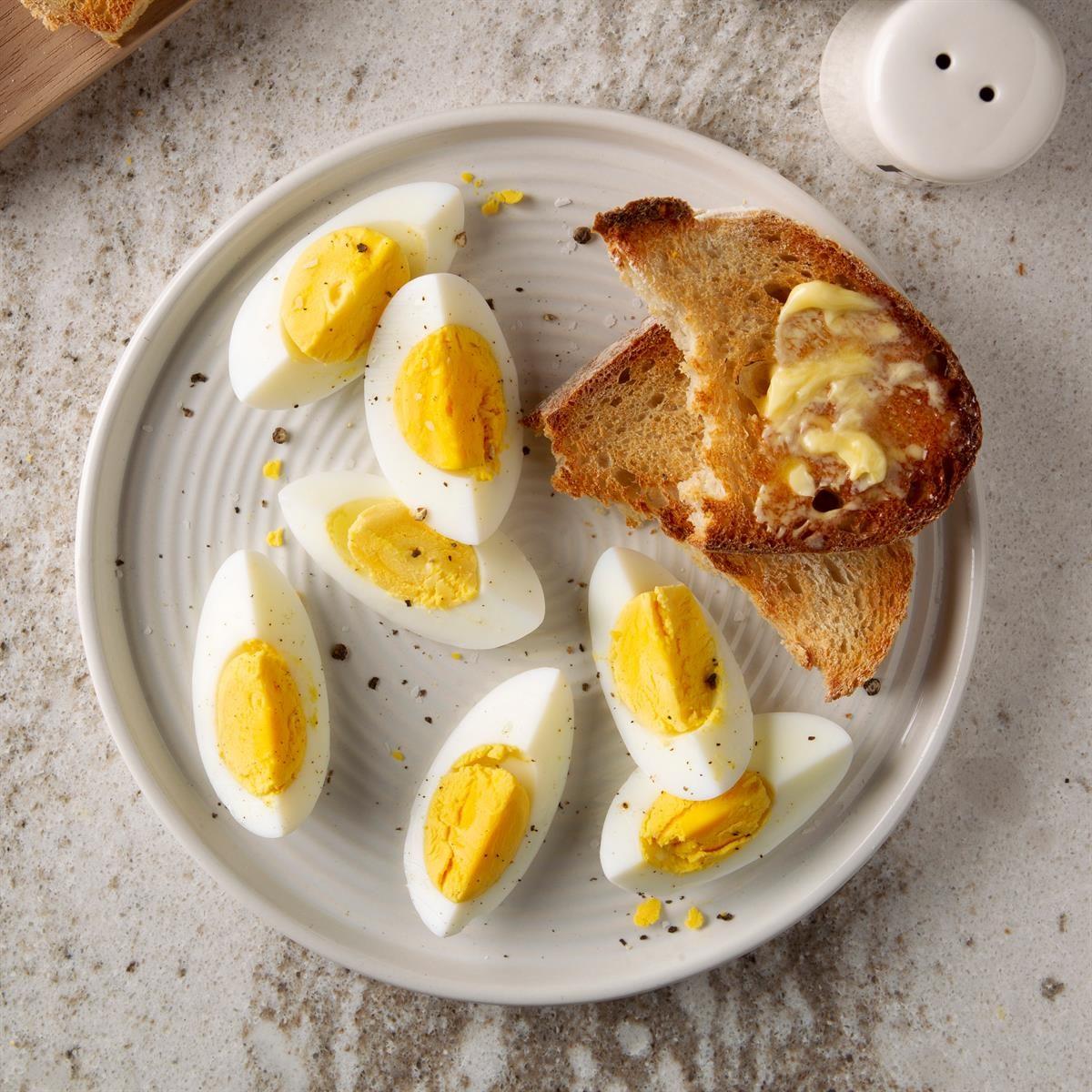 taste of home hard boiled eggs