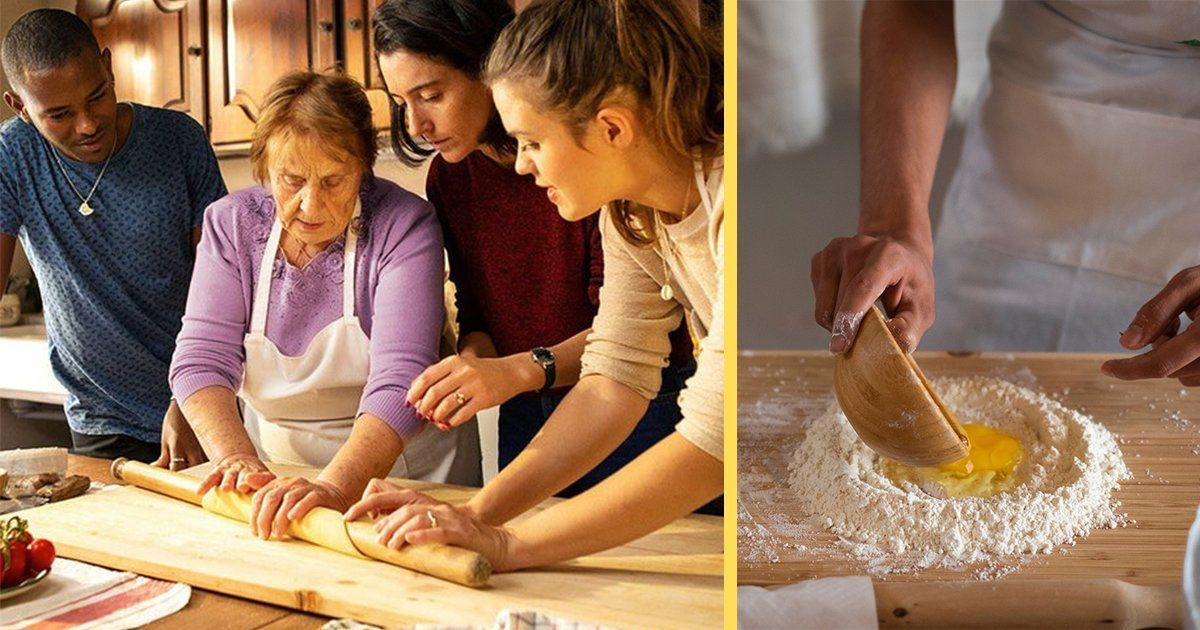 Nonna Nerina teaching people how to make pasta