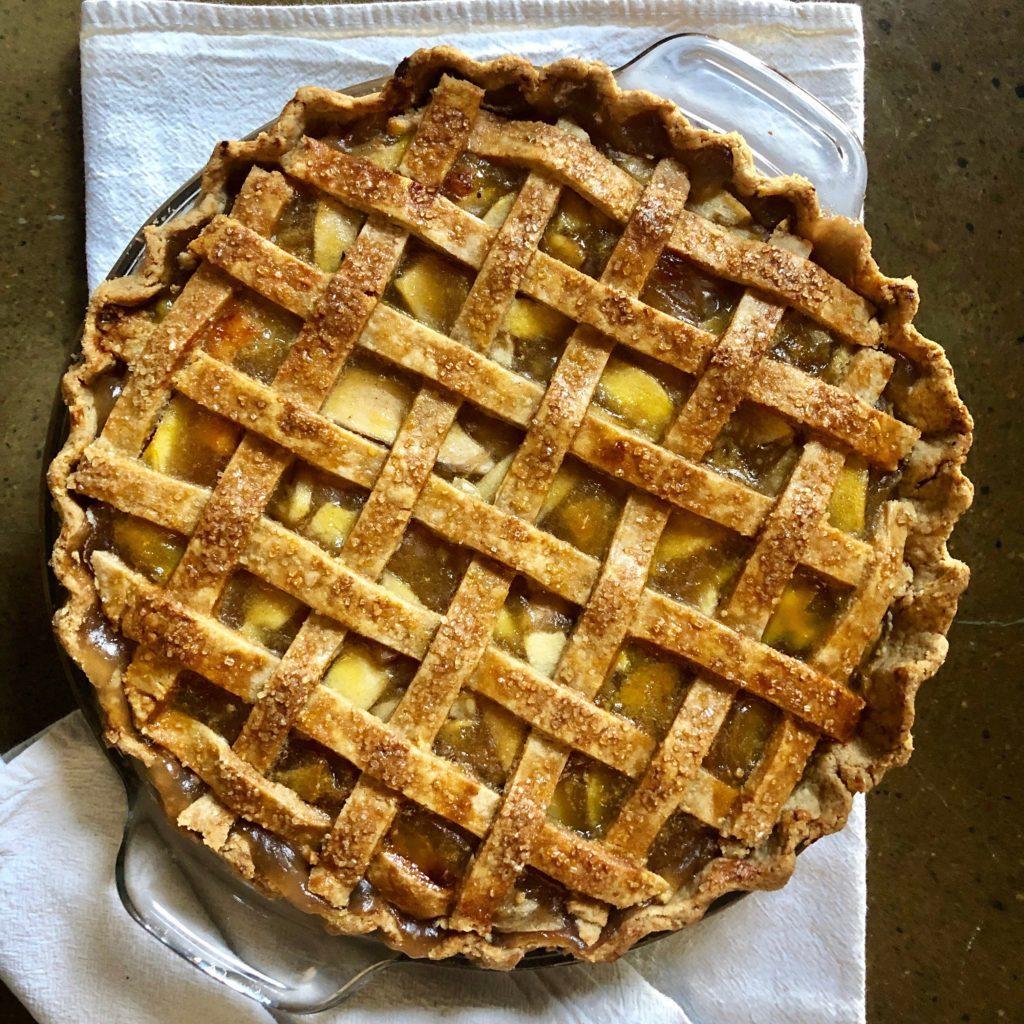baking quarantine pie
