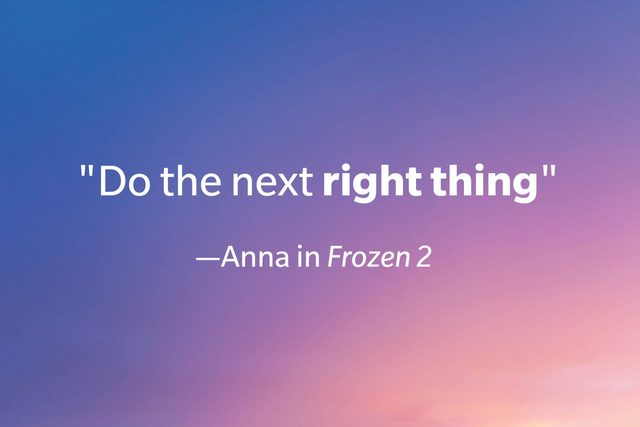 Quote from Frozen 2 on a gradient