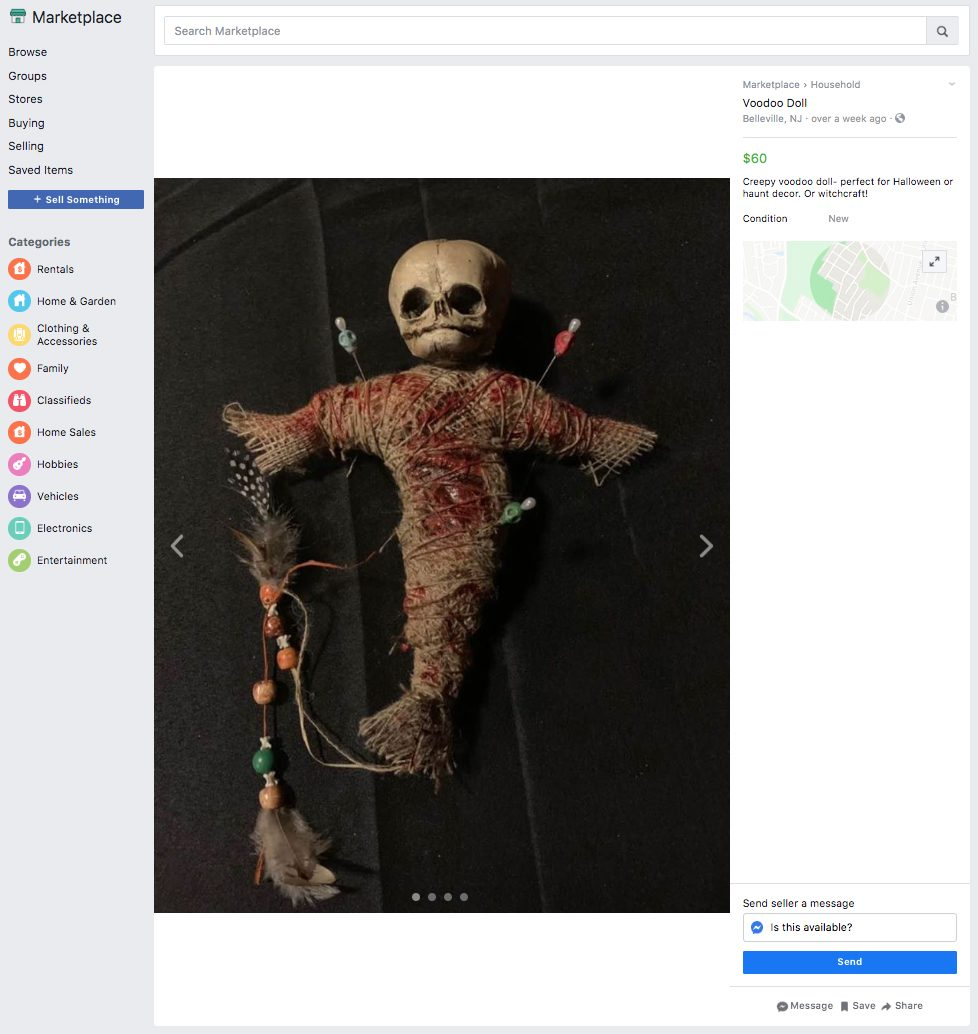 voodoo doll ridiculous things sold facebook marketplace