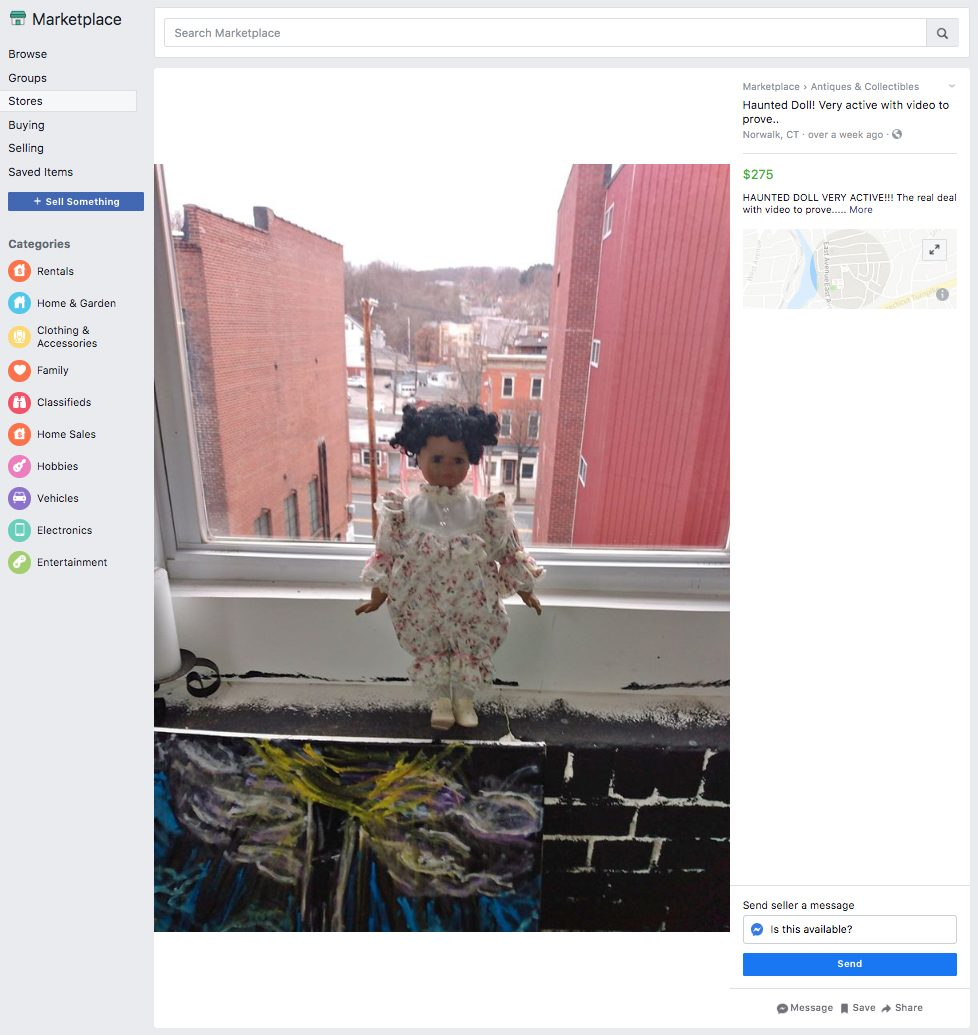 ridiculous things sold facebook marketplace haunted doll