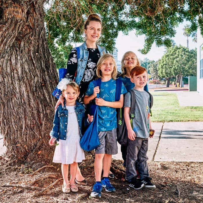 Desiree Mieir and her four children