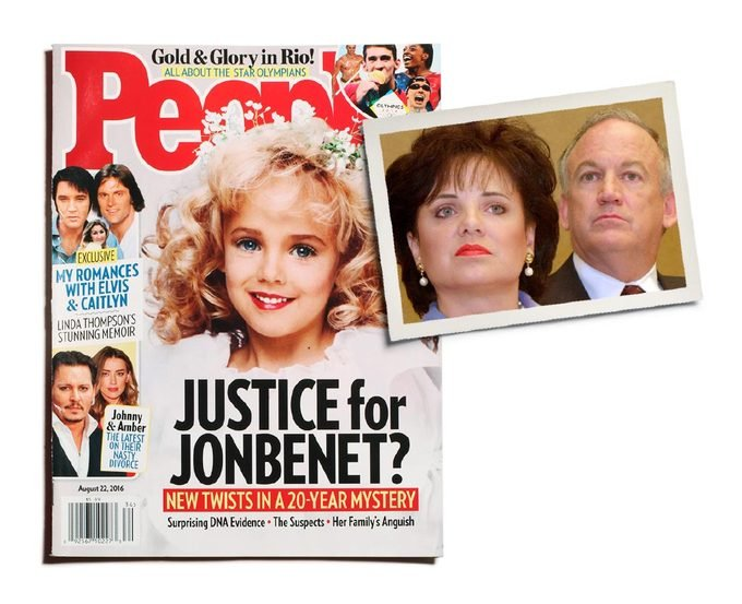 jonbenet on the cover of people magazine and her parents