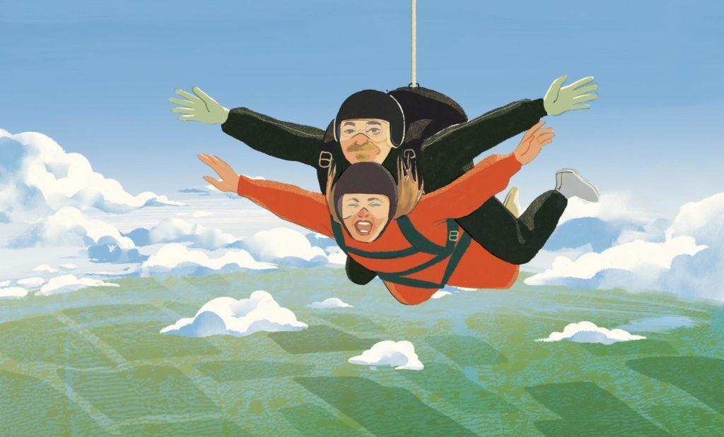 skydiving illustration by Cornelia Li
