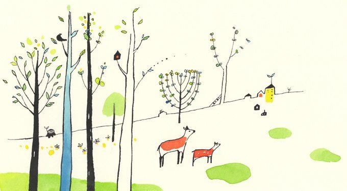 sping illustration by Nomoco