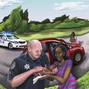 lifesaving traffic stop illustration by gel jamlang