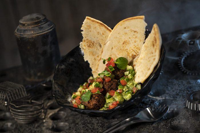 Felucian Kefta and Hummus Garden Spread from Docking Bay 7 Food and Cargo inside Star Wars: Galaxy's Edge