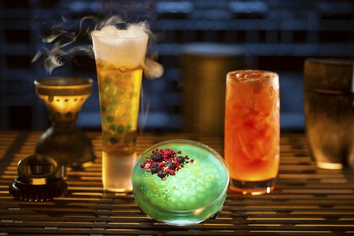 Drinks from Oga's Cantina at Star Wars: Galaxy's Edge