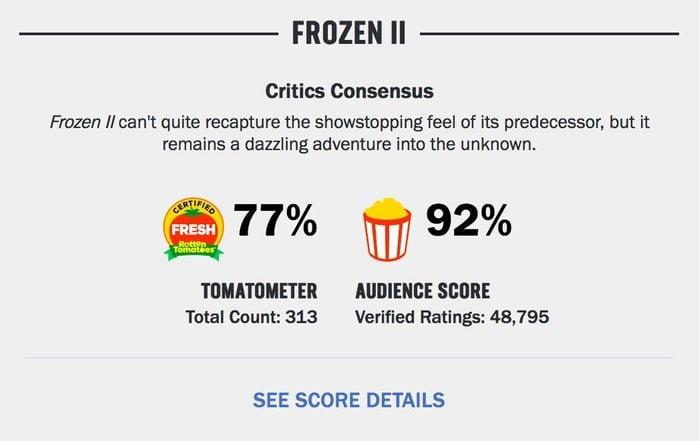 frozen ii certified fresh