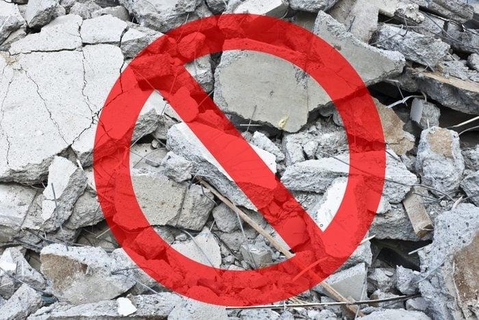 debris construction garbage hazard