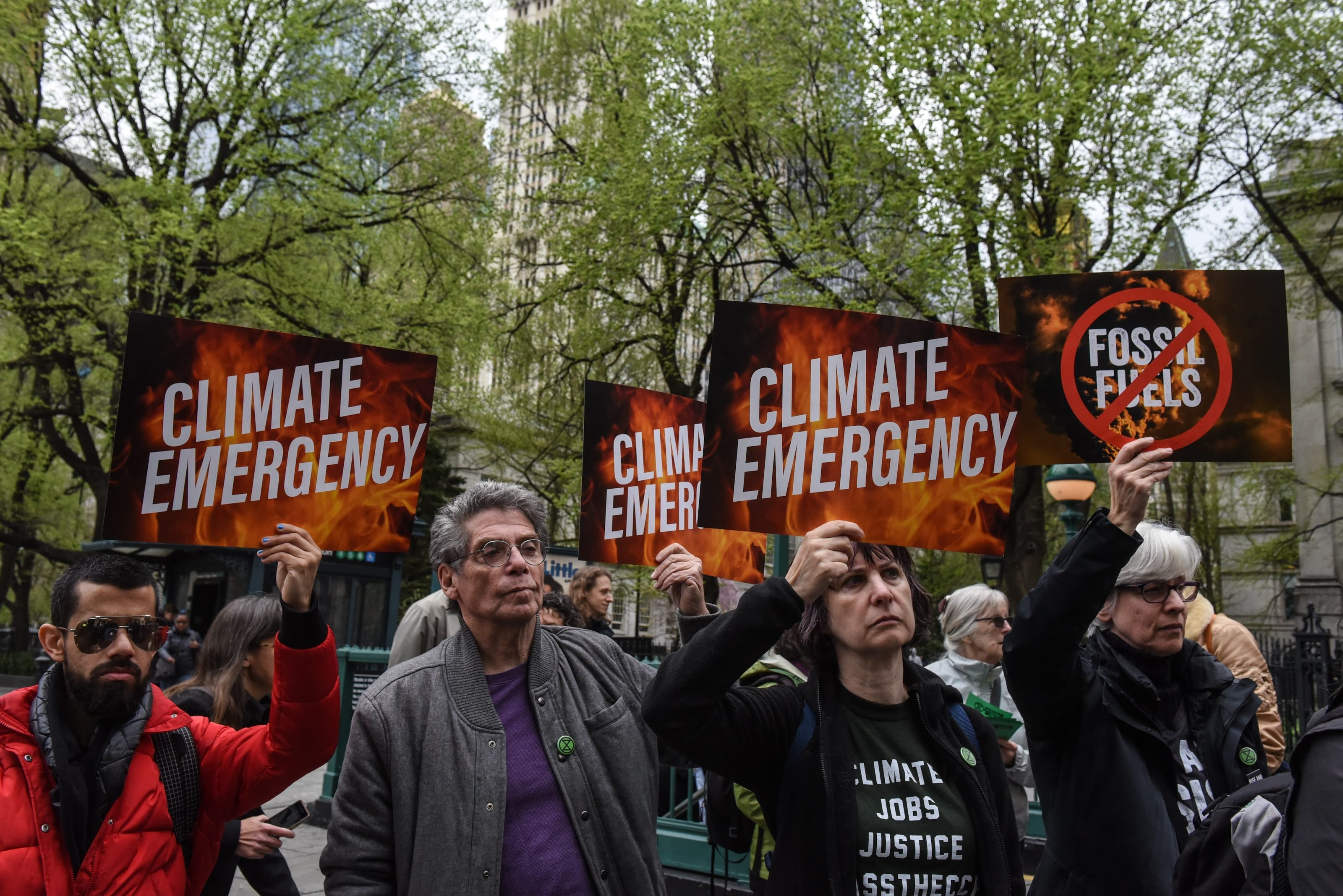 Environmental Activists 'Extinction Rebellion' Hold Climate Change Protest In New York City