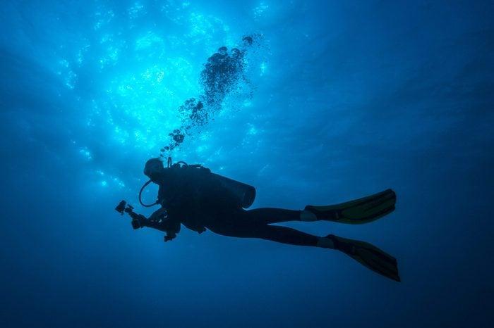 Female Diver - Palau, Micronesia