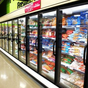 TORONTO, CANADA - MAY 06, 2014: Frozen foods aisle in a supermarket. In North America, consumption of frozen food has increased in recent years, mostly due to people's busy lifestyle.; Shutterstock ID 223392826; Job (TFH, TOH, RD, BNB, CWM, CM): TOH frozen produce