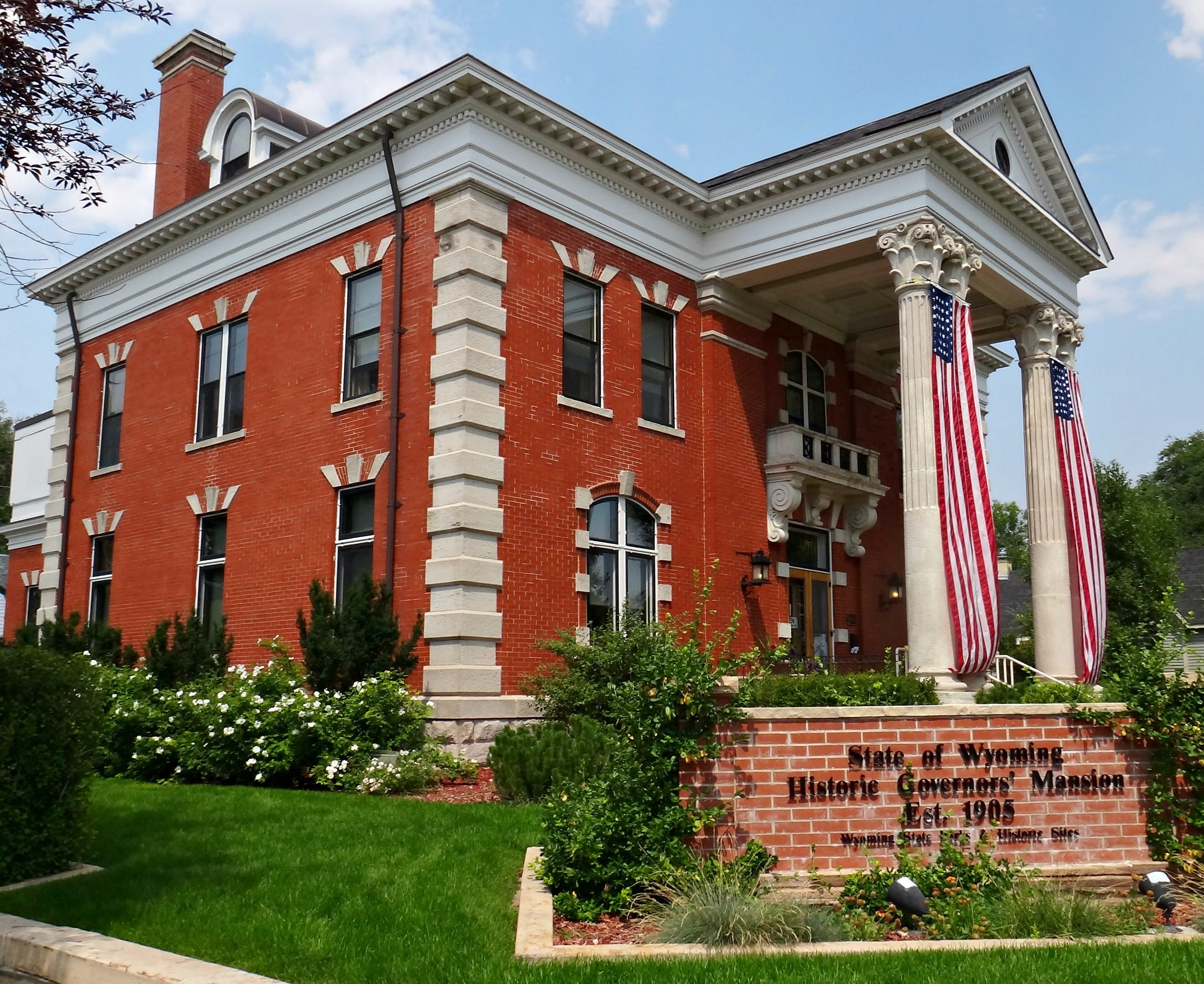 Historic Governors' Mansion in Wyoming