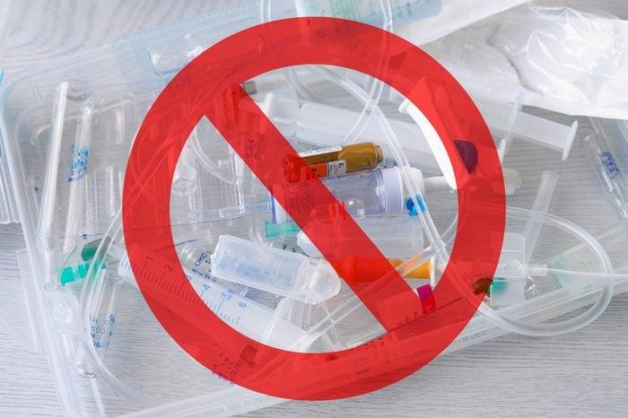 medical supplies garbage hazard dangerous