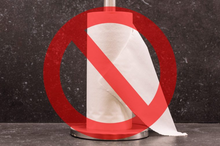 dont flush paper towels