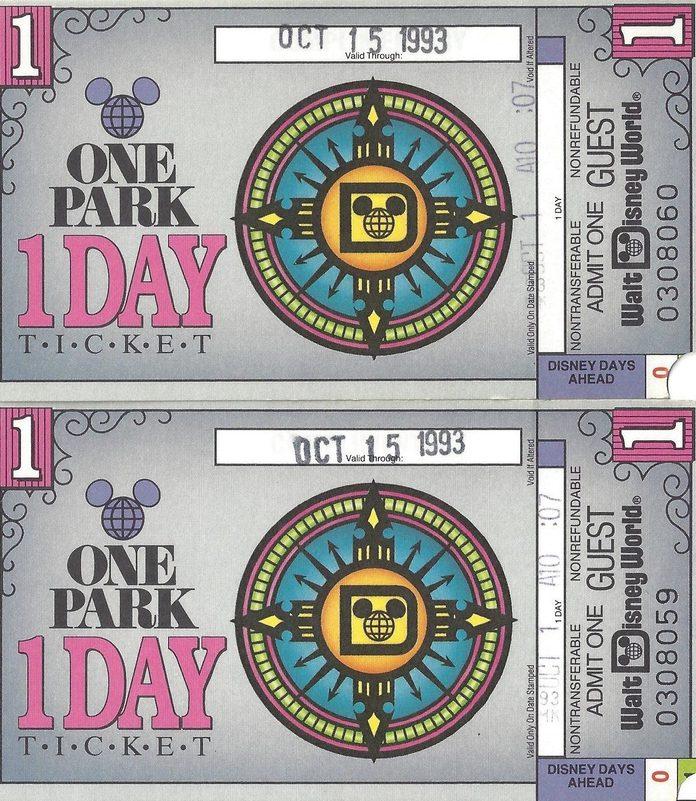 disney tickets 90s