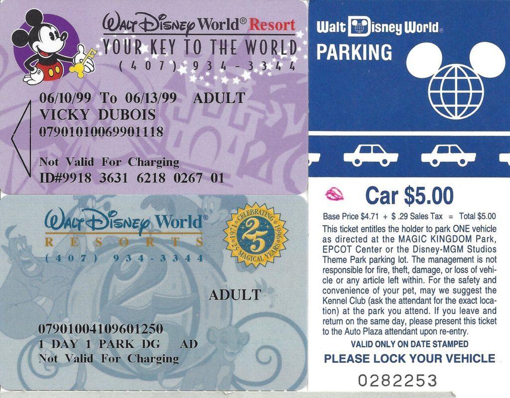90s disney world tickets