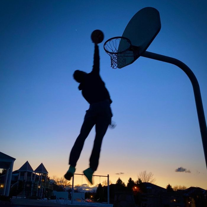 Moses basketball dunk