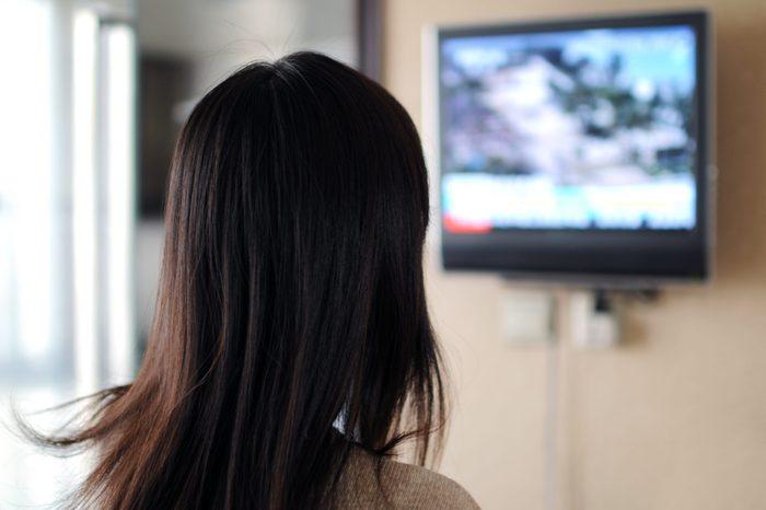 Watching TV - XLarge