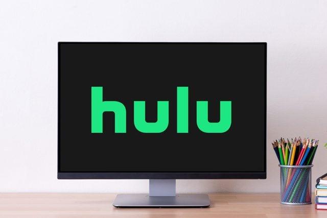 monitor screen showing hulu logo