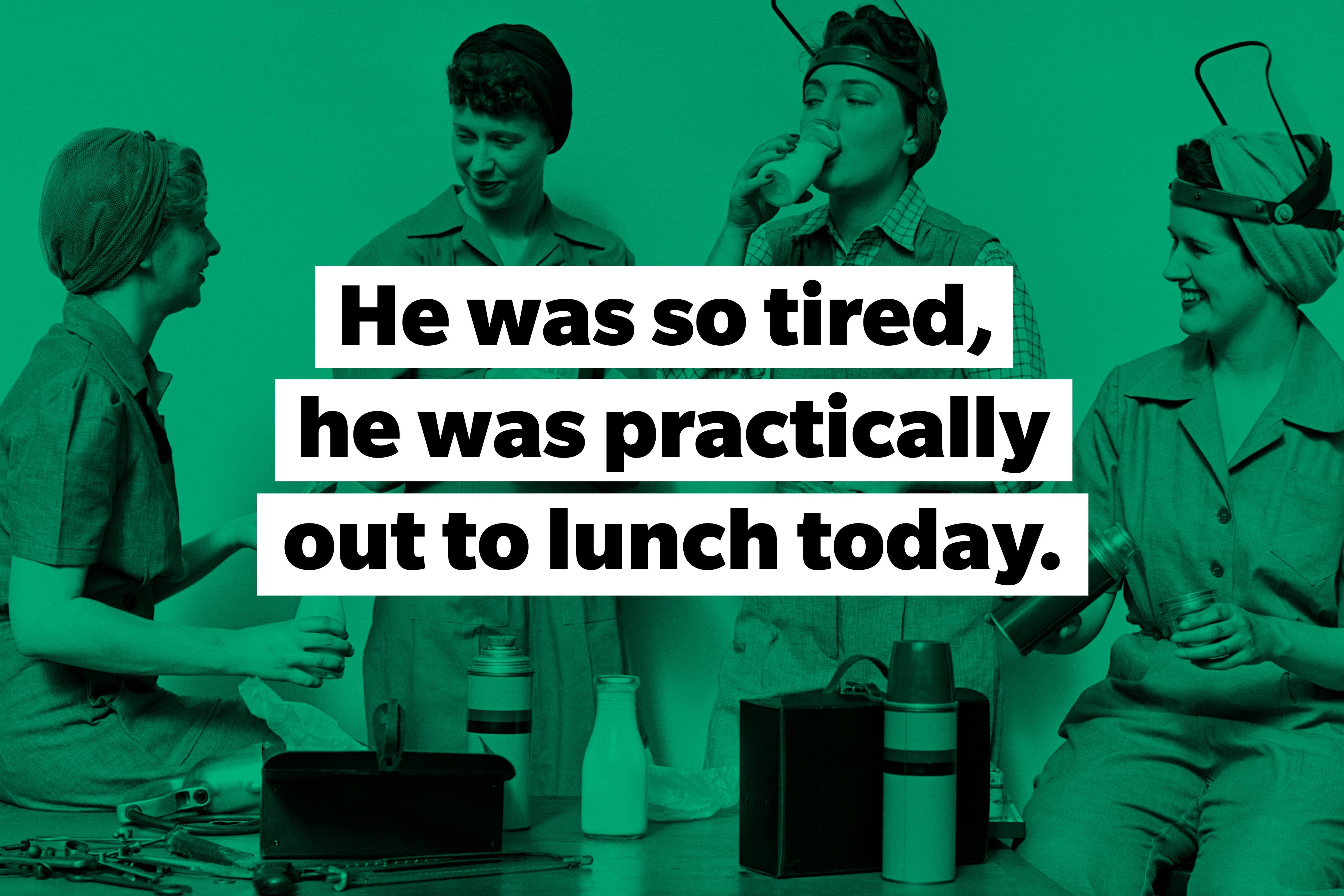 lunch slang