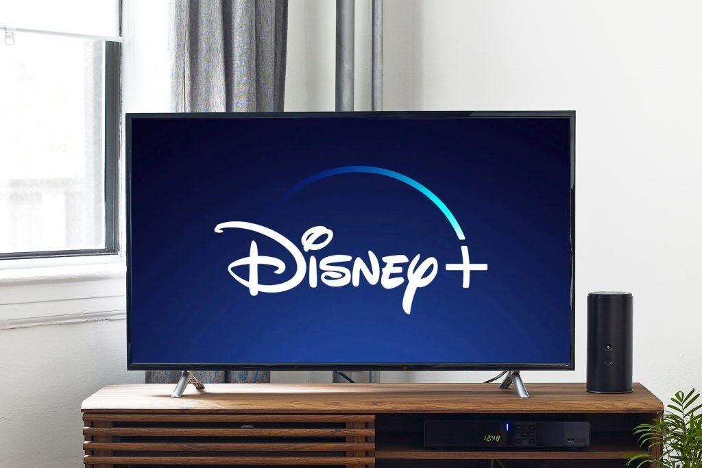 tv screen with disney+ logo