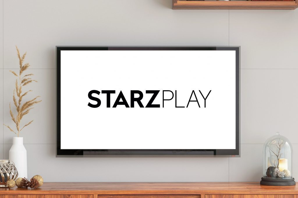 tv screen with starzplay logo