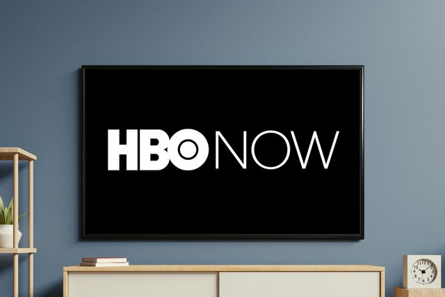 tv screen with hbonow logo