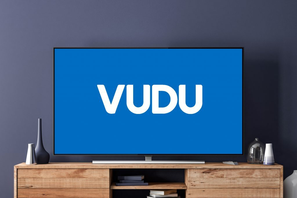 tv screen with vudu logo