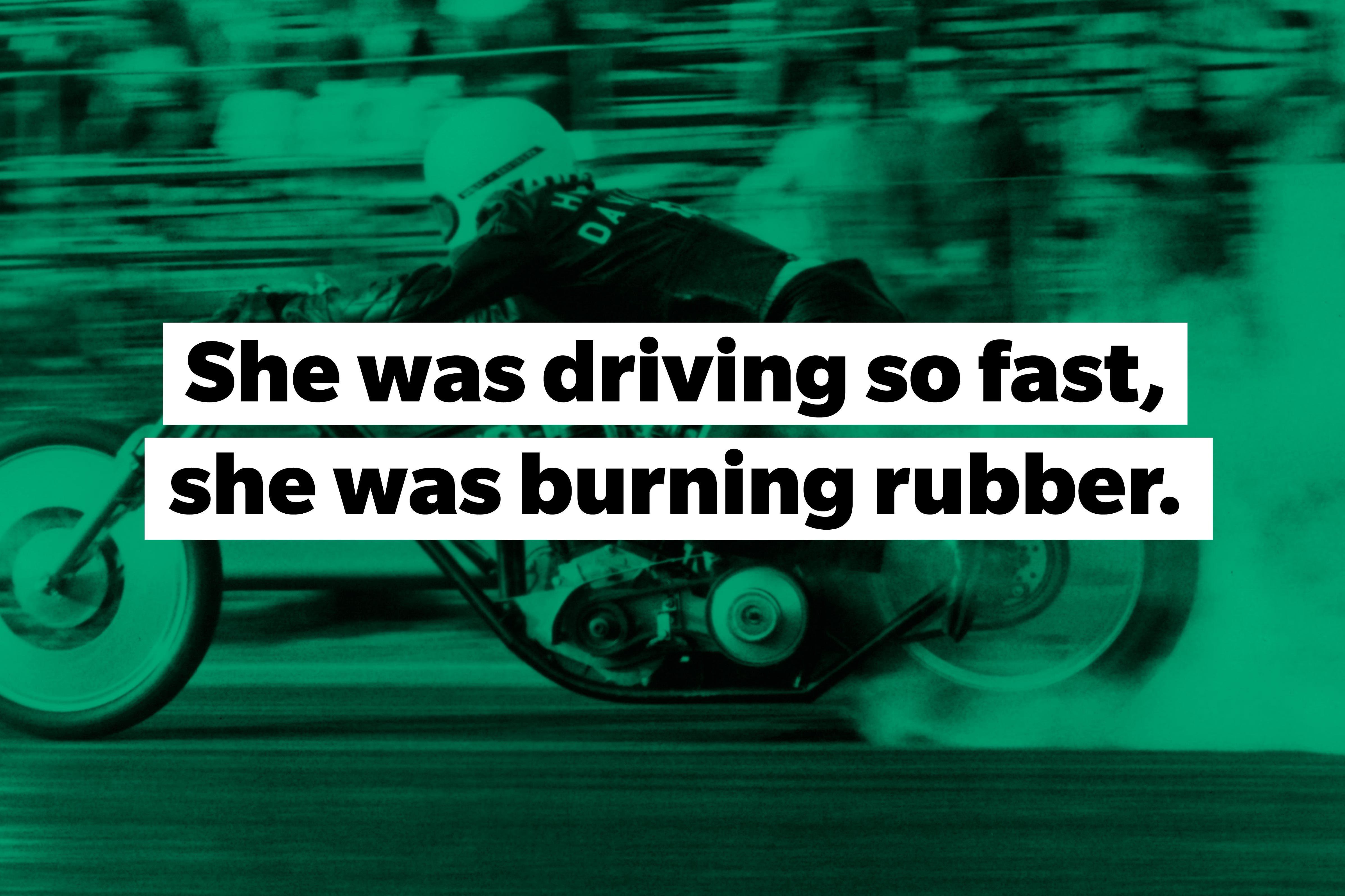 burning rubber slang words