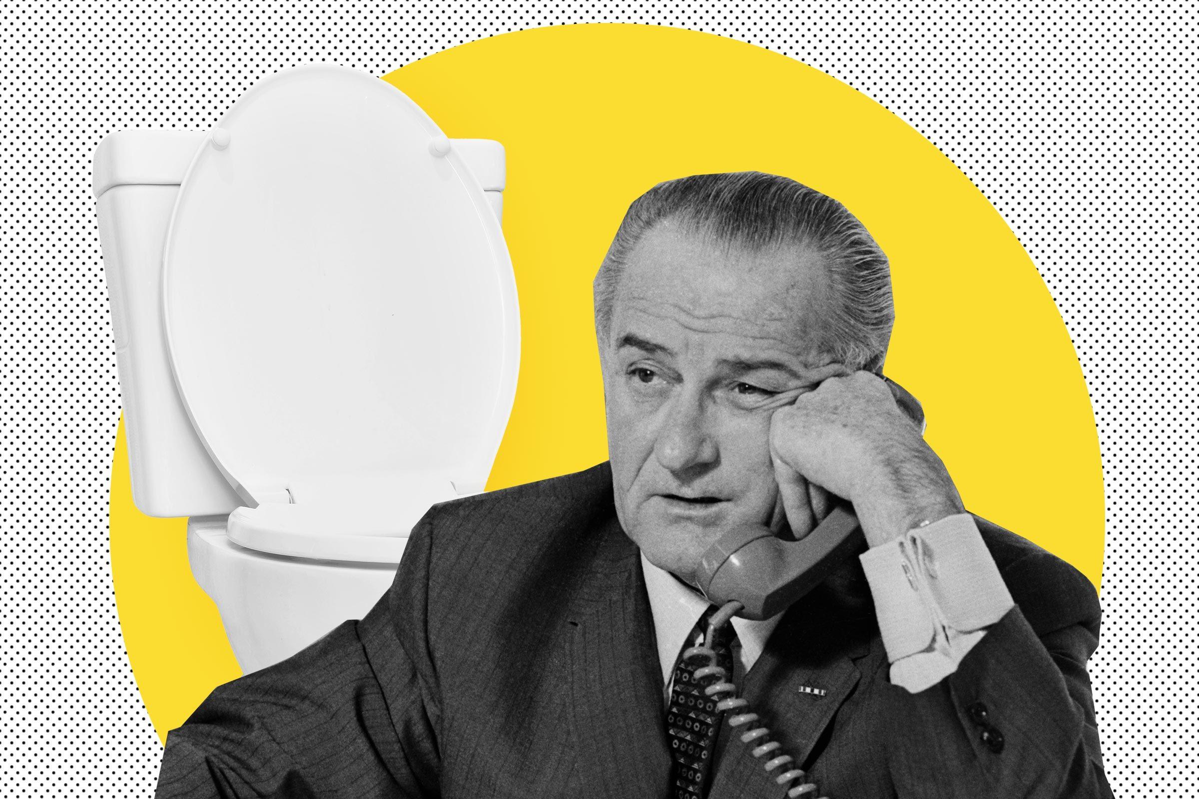 Lyndon B Johnson had meetings on toilet
