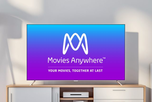 tv screen with moviesanywhere logo