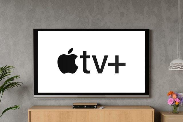 tv screen with apple tv+ logo