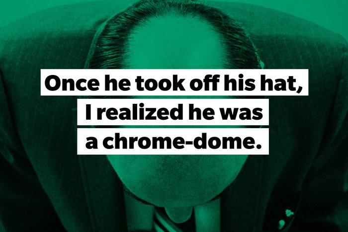 slang words Chrome-dome