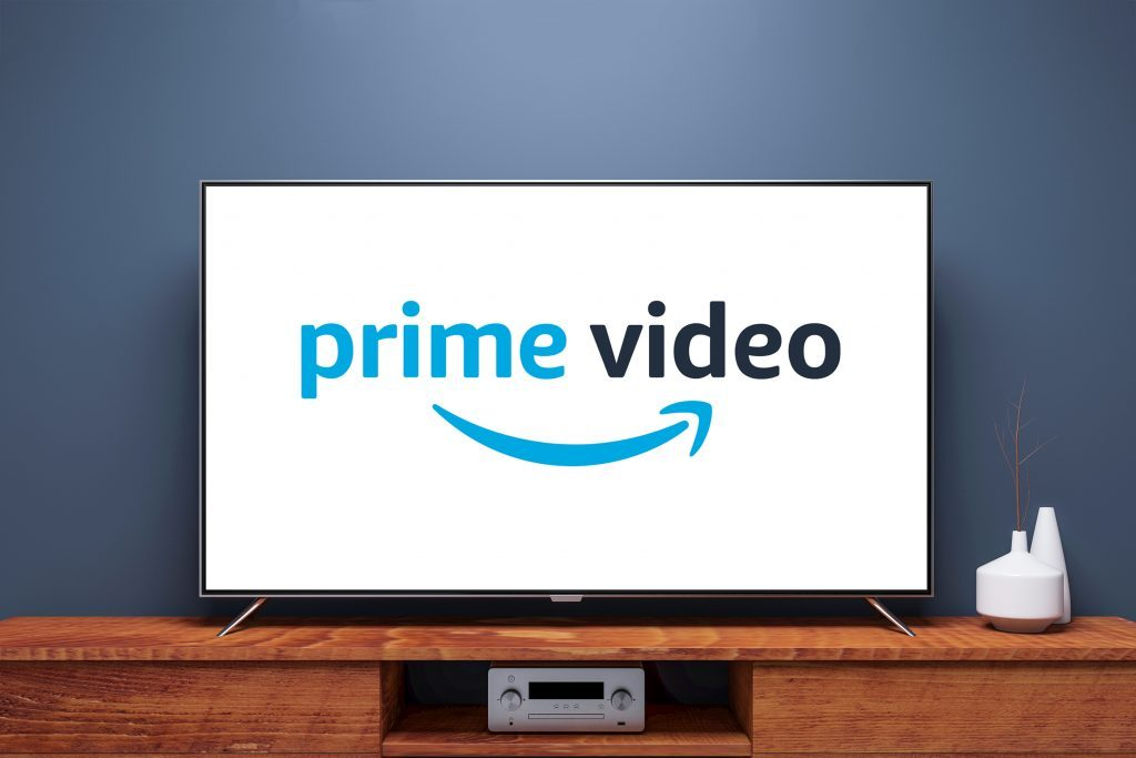 tv screen with prime video logo