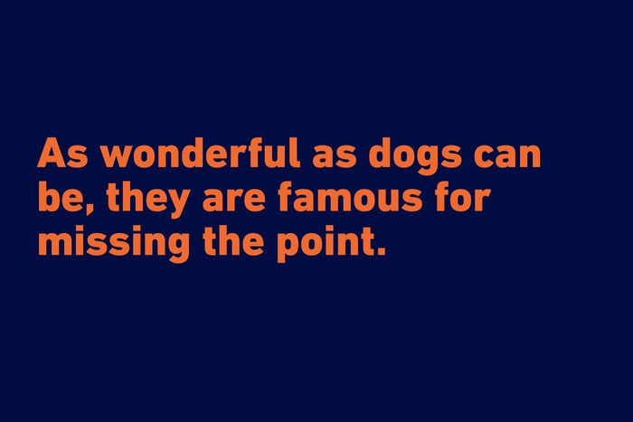 """""""As wonderful as dogs can be, they are famous for missing the point."""" —Jean Ferris"""